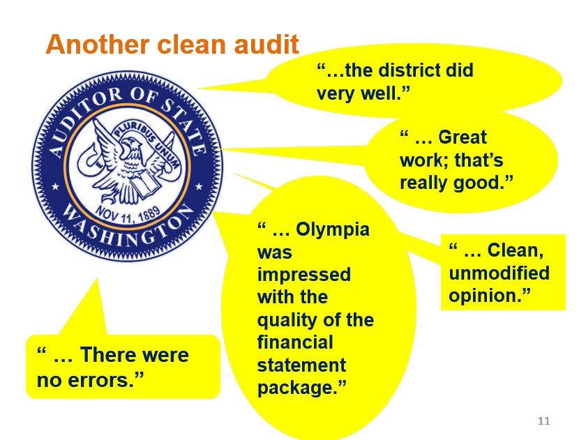 Once Again Everett Public Schools State Audit Report Indicates No