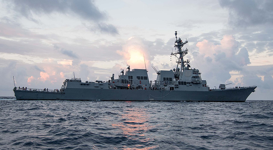 The City of Mill Creek officially adopted the USS Ralph Johnson (DDG-114), the newly commissioned Arleigh Burke-class guided-missile destroyer stationed at Naval Station Everett in March 2019.