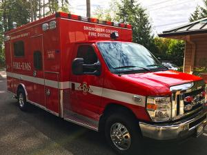 New Mill Creek Medic Unit 76. Photo courtesy of Fire District 7.