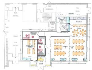 Preliminary Mill Creek Senior Center layout drawing. Image courtesy of City of Mill Creek.