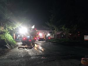 Snohomish County Fire District 7 crews were dispatched at 12:48 am on Thursday, September 12, 2019, to a reported commercial fire at the 1800 block of 180th Street SE - the Ness and Campbell Crane Warehouse, which is just south of Mill Creek city limits.