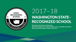 Five Everett School District Schools were honored in the new 2017-2018 Washington State recognition program. Recognized schools are in the top 20 percent on multiple measures.