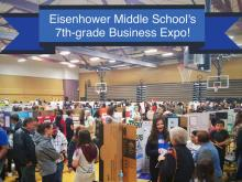 275 Eisenhower Middle School seventh-graders pitched their business plans. Photo courtesy of Everett Public Schools.