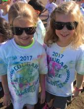 Anna and Kat after Color Run. Photo courtesy of Abbey McGee.