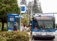 On Labor Day, Monday, September 2nd, Community Transit will operate a Sunday bus schedule. Labor Day is also the last day of the Evergreen State Fair and there will be extra late trips running after the fair closes.