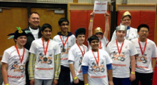 On Saturday, January 18, 2014, Gateway Middle School's robotics team placed sixth in the FIRST Lego League competition. As a result, they are advancing to the state semi-finals, Sunday, February 9th at Henry M. Jackson High School.