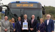 Community Transit recently won a 2019 VISION 2040 Award from the Puget Sound Regional Council (PSRC) for the new Swift Green Line rapid bus line. This award recognizes innovative projects and programs that help ensure a sustainable future as the region grows.