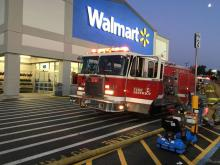 A Walmart west of Mill Creek was evacuated and closed Thursday night, August 31, 2017, after a small fire left the store filled with hazy smoke for several hours. It is unlikely the store will be open Friday morning.