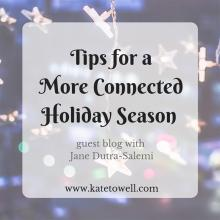 When our older kids were younger, we were happiness-rich, but money-poor. We needed to create for our family a holiday season that was built upon experiences and family togetherness instead of monetary things. We were setting ourselves up for wonderfully connected holiday seasons.