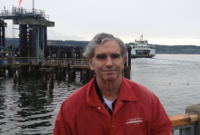 Mike Gold at the Mukilteo Ferry Terminal.