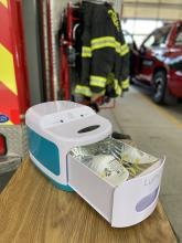 UV lights will be used to disinfect N-95 masks, enabling firefighters to safely reuse masks a limited number of times.