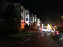 First responders at south Everett townhouse fire. Photo courtesy of South County Fire and Rescue.