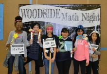 Math is the focus of serious learning and fun at Woodside Elementary. Photo courtesy of Everett Public Schools.
