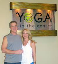 Yoga in the Center celebrated its opening on Thursday, January 1st, 2015, at its spacious location across the street from Azul, on the second floor of the Creekside Village complex.