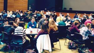 Cascadia College hosts their first dialog addressing campus sustainability. Photo courtesy of Cascade College.