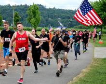 Monroe VFW Post 7511 invites community members to attend the 3rd annual Flags for our Fallen, a 5K walk/run and community celebration that takes place at 0930 (9:30 am) on Armed Forces Day, Saturday, May 18, 2019, at Lake Tye Park in Monroe.