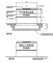 At their regular April 23, 2013 meeting the Mill Creek City Council authorized City staff to design, review, approve, and construct two new concrete monument signs at Cougar and Hillside parks.