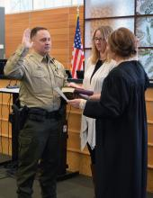 Sheriff Adam Fortney was sworn in as Snohomish County's 32nd sheriff on Monday, December 30, 2019. He has been a member of the Sheriff's Office for nearly 23 years, working in patrol, K-9, and SWAT.